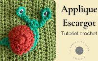 Applique Escargot au crochet - Tutoriel en français - Explications en pas à pas