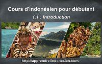 Apprendre l'indonésien - Débutant - Leçon 1 - Introduction