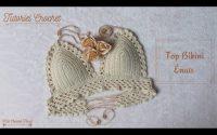 """Crochet:Tutoriel Magnifique Top Bikini """"Énais"""" Crochet: Beautiful Bikini Top Tuto Maï Crochet Tricot"""