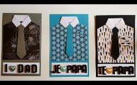 Father's day card tutoriel/tuto carte fête des pères/tuto tarjeta feliz diya papa'