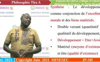 IP-SH Philosophie Tles A Leçon 8 exposés des éléves, critique et valeur de l'oeuvre de Njoh Mouellè