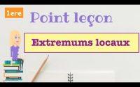 Point Leçon : Extremums locaux