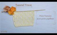 Tricot: Tutoriel Point Fantaisie Jours Papillons. Butterfly Fancy stitch knit Maï Crochet Tricot