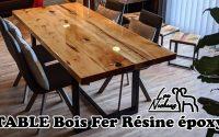 Tutoriel : Table design en bois, tilleul et résine époxy. Farmhouse Dining Table Epoxy tutorial diy