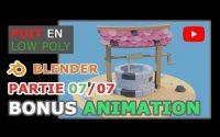 Blender 2.9 | Tutoriel pour débutants | Créer un puit en Low Poly | Partie 07/07 - Bonus animation