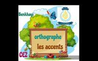 Leçon d'orthographe :les accents