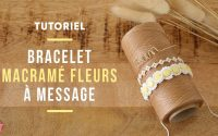 TUTORIEL   Bracelet macramé fleurs à message avec perles Alphabet