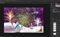 Tutoriel Photoshop cc 2017..Faire une Carte de Noël