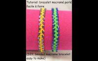 Tutoriel: bracelet macramé perlé facile à faire (DIY: beaded macrame bracelet easy to make)