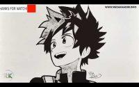 Comment dessiner Izuku Midoriya de My Hero Academia - Dessin Facile   Tutoriel de dessin