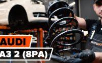 Comment remplacer ressort de suspension avant sur AUDI A3 2 (8PA) [TUTORIEL AUTODOC]