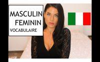 Cours d'Italien  : Leçon 7 , Masculin Féminin