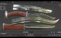 Couteau le forgeron 3D Tutoriel Français svm6 ( N° 1 modéliser la lame )