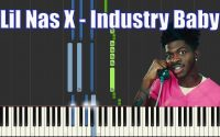 LIL NAS X, JACK HARLOW - INDUSTRY BABY I PIANO TUTORIEL