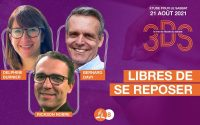 Libres de se reposer - Leçon 8 de l'école du Sabbat 2021T3 pour le 21 août - Le trio 3DS