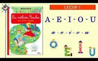 Méthode BOSCHER - Leçon 1: voyelles A - E - I - O - U   Français FLE A1   Prononciation française