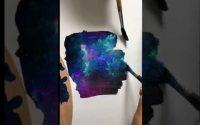 Tutoriel  Comment peindre une galaxie😂🤩! Merci pour les 36K🤜🏼