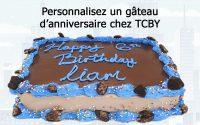 Tutoriel FoodForce : Personnnaliser un gâteau d'anniversaire chez TCBY