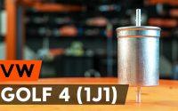 Changer un filtre à carburant sur VW GOLF 4 (1J1) [TUTORIEL AUTODOC]