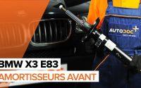 Comment remplacer des amortisseurs avant sur une BMW X3 E83 TUTORIEL | AUTODOC