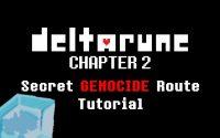 DELTARUNE Chapter 2 - How To Begin SECRET Genocide Route (Tutoriel)