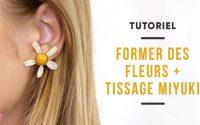 TUTORIEL | Boucles d'oreilles fleurs marguerites en tissage de perles Miyuki