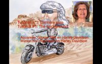 Tutoriel aquarelle, Tutorial watercolor - Grosse Tête en Harley - video 1- Arrière plan-Background