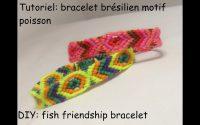 Tutoriel : bracelet brésilien motif poisson 🐠🐟 (DIY : fish friendship bracelet)