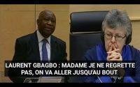 LAURENT GBAGBO DONNE UNE LEÇON DE DÉMOCRATIE AUX JUGES BLANCS ET AUX PROCUREUR FATOU BENSOUDA