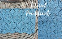 Tutoriel Tricot: Point de Losanges Fantaisie. Knitting tutorial: Diamond stitch. Maïlane