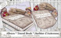 """[Tutoriel] """"Album * TravelBook * Herbier d'Automne * Reliure Copte * Blog Hop"""" par Coul'Heure Papier"""